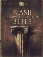 NASB - Compact  Reference Bible (burgundy, bonded leather)