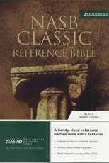 NASB - Classic Reference Bible (black, bonded leather)