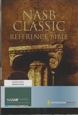 Classic Reference Bible - NAS (burgundy, bonded leather)
