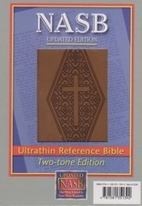 Ultrathin Reference Bible - NAS (brown, diamond stamp, Leathertex)