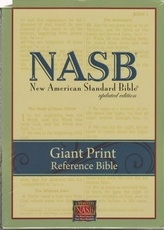 Giant Print Reference Bible - NAS (black, genuine leather)