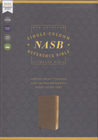 NASB Single-Column Reference Bible Brown Leathersoft