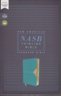NASB Thinline Bible - Teal leathersoft