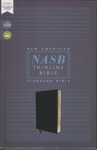 NASB Thinline Bible - Black bonded leather
