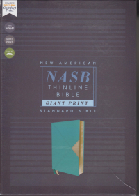 NASB Thinline Bible Giant Print - Teal Leathersoft