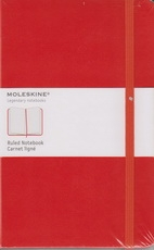 Moleskine Ruled Notebook - red