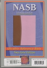 NASB - Ultrathin Reference Bible (brown/pink, Leathertex)