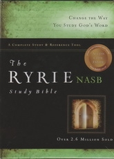 NASB - The Ryrie Study Bible (red letter, black leather)