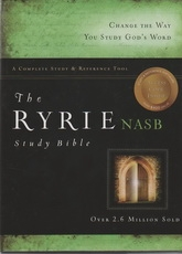 NASB - The Ryrie Study Bible (red letter, burgundy leather)