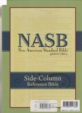 NASB - Side Column Reference Bible (black, bonded leather)