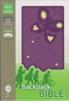 Backpack Bible - NIrV (purple with butterfly)