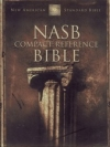 Compact Reference Bible - NAS (burgundy, bonded leather with snap-flap)