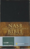 Giant Print Reference Personal Size Bible - NAS (black, leather look)