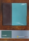 Thinline Bible - NAS (Italian duo-tone, chocolate/turquoise, imitation leather)
