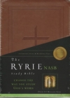 Ryrie Study Bible - NAS (red letter, brown, soft touch)