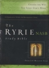 Ryrie Study Bible- NAS (red letter, black, soft touch, indexed)