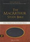 MacArthur Study Bible - NAS - raven leathersoft, thumb index
