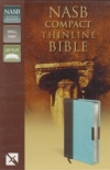 Compact Thinline Bible - NASB (chocolate/turquoise)