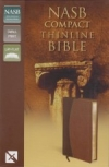 Compact Thinline Bible - NASB (mahogany/chocolate)