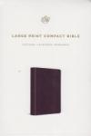 Large Print Compact Bible - ESV (lavender)