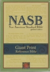 NASB - Giant Print Reference Bible (black, Leathertex)