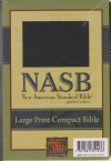 Large Print Compact Bible - NAS (black, cross design)