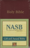 Gift and Award Bible - NAS (burgundy, imitation leather)