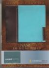 NASB - Thinline Bible (Italian duo-tone, chocolate/turquoise, imitation leather)