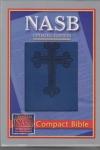 NASB - Compact  Bible (blue cross stamp, Leathertex)
