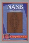 NASB - Compact Bible (diamond/cross stamp, Leathertex)
