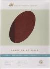 (ESV) - Large Print Bible (TruTone, brown/cordovan, portfolio, imitation leather
