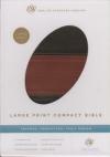 (ESV) - Large Print Bible (TruTone, forest/tan, trail design, imitation leather)