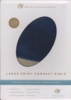 Large Print Compact Bible - ESV (TruTone, navy/taupe, curve design)