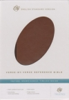(ESV) - Verse-by-Verse Reference Bible (TruTone, brown/saddle, timeless design,