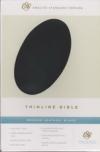 (ESV) - Thinline Bible (bonded leather, black)