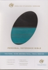 Personal Reference Bible - ESV (Trutone, dark brown/teal, trail design)