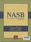 Giant Print Reference Bible - NAS (burgundy, genuine leather, indexed)