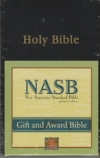 Gift and Award Bible - NAS (black, imitation leather)