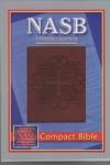 NASB - Compact Bible (Greek Cross stamp, Leathertex)