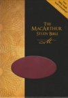 The MacArthur Study Bible - NAS (Cranberry, Imitation Leather)