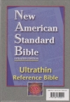 Ultrathin Reference Bible - NAS (burgundy, genuine leather)