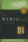 The Ryrie Study Bible - NAS (hardback, red letter, indexed)